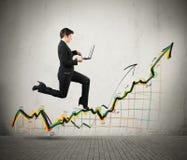 De groei en succes in zaken Stock Afbeeldingen