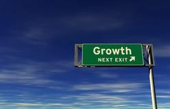De groei - het Teken van de Uitgang van de Snelweg Royalty-vrije Stock Foto