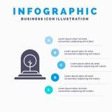 De groei, Installatie, Zaken, Boom, Nieuw Stevig Pictogram Infographics 5 de Achtergrond van de Stappenpresentatie stock illustratie