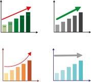 De groei omhoog dynamica De groei plan royalty-vrije illustratie