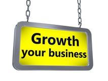 De groei uw zaken op aanplakbord stock illustratie