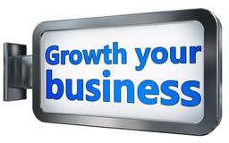 De groei uw zaken op aanplakbordachtergrond vector illustratie