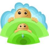 De groei van de baby stock illustratie
