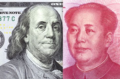 De groei van de dollar stock afbeeldingen