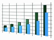 De groei van de grafiek wordt og vertegenwoordigd vector illustratie