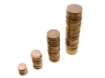De groei van het muntstuk royalty-vrije stock foto's