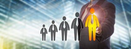 De Groei van managerhighlighting projected talent Royalty-vrije Stock Foto's