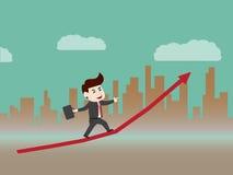 De groei van progressieve zaken Stock Foto