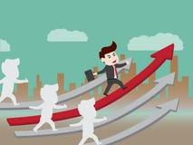 De groei van progressieve zaken Stock Afbeeldingen