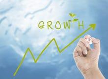 De groei van uw geld Stock Afbeeldingen