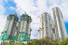 De gebouwen van de bouw Stock Foto