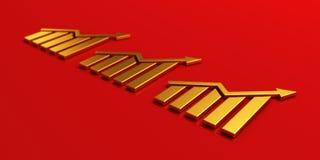 De Groeibar van de financiënbar 3d geef illustratie terug vector illustratie