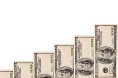 De groeidiagram van het geld Stock Afbeeldingen