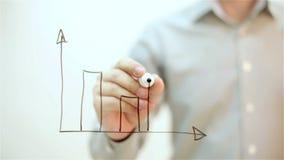 de groeigrafiek stock video