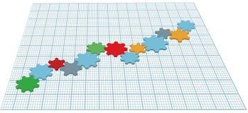 De groeigrafiek van technologie van de toestellentechnologie vector illustratie