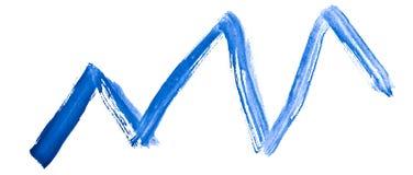 De groeigrafiek - waterverf, met de hand geschilderd met een ruwe borstel Uitstekende schilderijen voor ontwerp en decoratie vector illustratie
