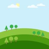 De groen wolk van de heuvelboom en berglandschap Stock Foto