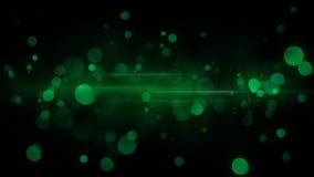 De groene abstracte achtergrond van bokehlichten Stock Fotografie
