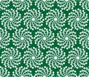 De groene abstracte vectorachtergrond met witte grunge greep de vormen van de cirkelster, naadloze achtergrond Royalty-vrije Stock Afbeelding