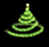 De groene achtergrond van de Kerstmisboom Royalty-vrije Stock Foto's