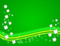 De groene Achtergrond van de Klaver Stock Afbeeldingen