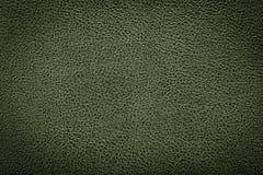 De groene achtergrond van de leertextuur voor ontwerp Stock Afbeelding