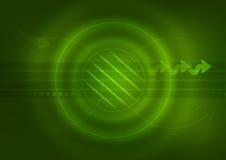De Groene Achtergrond van de technologie Stock Foto's