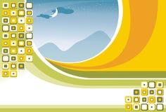 De groene Achtergrond van de Vlieger stock illustratie