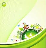 De Groene Achtergrond van het milieu Stock Foto's