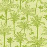 De groene achtergrond van het palmen naadloze patroon vector illustratie