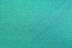 De groene achtergrond van de het patroontextuur van de zijdestof Weverstextiel Stock Afbeelding