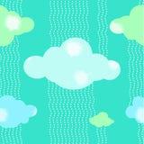 De groene Achtergrond van het Wolkenpatroon Royalty-vrije Stock Afbeelding