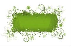 De groene achtergrond van Kerstmis