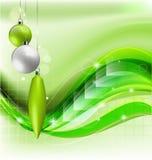 De groene achtergrond van Kerstmis Stock Fotografie
