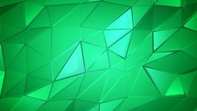 De groene achtergrond van de kristallen poly abstracte animatie stock video