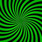 De groene achtergrond van regenboogstralen De groene achtergrond vectoreps10 van de kleurenuitbarsting Groene en zwarte stralenac royalty-vrije illustratie