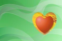 De groene achtergrond van Valentine Stock Illustratie