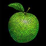 De groene appel van het mozaïek royalty-vrije illustratie
