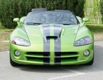 De Groene Auto van de Adder van de zijsprong Royalty-vrije Stock Fotografie