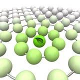 De groene Bal van het Blad - Verbonden Gebieden vector illustratie