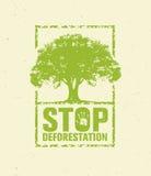 De Groene Banner van Eco van de eindeontbossing Organisch Creatief Vectorontwerpconcept op Gerecycleerde Document Achtergrond met royalty-vrije illustratie