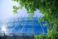 De groene bedrijfsbureaubouw Stock Foto