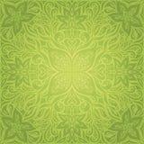 De groene Bloemen Decoratieve van het overladen achtergrond van het mandalaontwerp het patroonbehang van Pasen vector stock illustratie