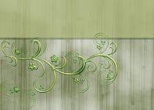 De groene Bloemen Geweven Achtergrond van de Wijnstok Royalty-vrije Stock Foto's