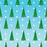 De groene bomen van het Kerstmispatroon Royalty-vrije Stock Foto's