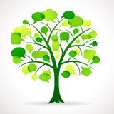De groene Boom van de Toespraakbel royalty-vrije illustratie