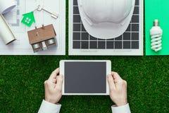 De groene bouw en alternatieve energieën Royalty-vrije Stock Afbeelding