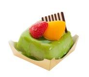De groene Cake van de Thee Royalty-vrije Stock Afbeeldingen