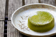 De groene Cake van de Thee Royalty-vrije Stock Afbeelding