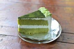 De groene Cake van de Thee Royalty-vrije Stock Foto